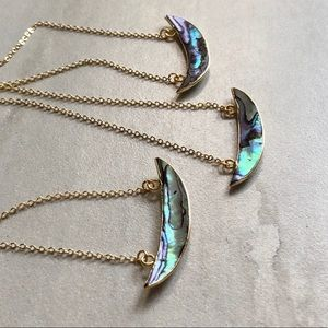 Abalone Shell Crescent Necklace